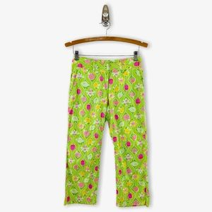 Lilly Pulitzer A-Maze-Ing Ladybug Cropped Pants
